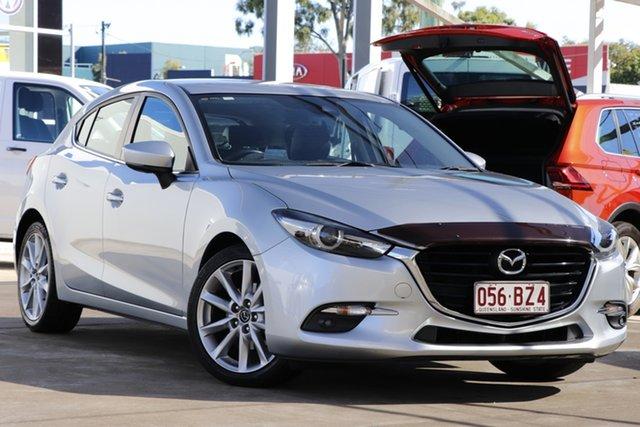 Used Mazda 3 BN5436 SP25 SKYACTIV-MT GT Bundamba, 2016 Mazda 3 BN5436 SP25 SKYACTIV-MT GT Sonic Silver 6 Speed Manual Hatchback