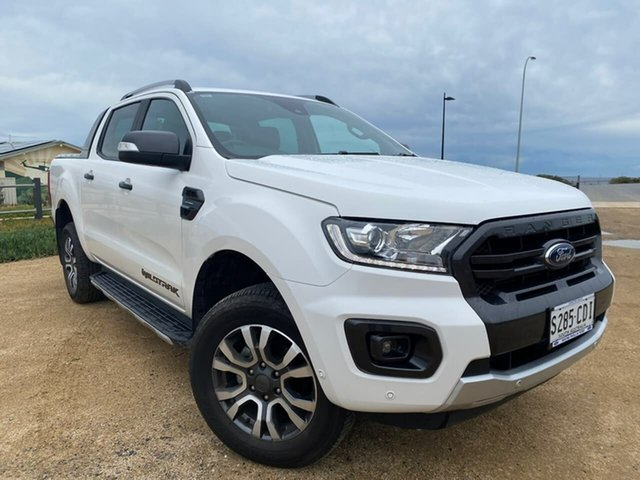 Used Ford Ranger PX MkIII 2020.25MY Wildtrak Christies Beach, 2019 Ford Ranger PX MkIII 2020.25MY Wildtrak White 10 Speed Sports Automatic Double Cab Pick Up