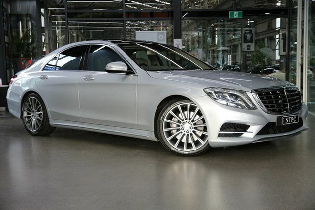 Used Mercedes-Benz S-Class W222 S500 7G-Tronic + North Melbourne, 2013 Mercedes-Benz S-Class W222 S500 7G-Tronic + Silver 7 Speed Sports Automatic Sedan