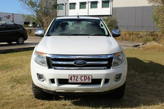 2013 Ford Ranger PX XLT Double Cab White 6 Speed Sports Automatic Utility.