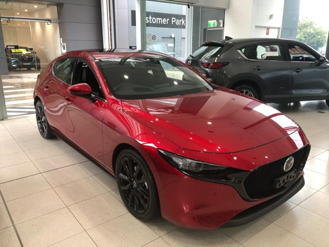 New Mazda 3 BP2HLA G25 SKYACTIV-Drive Astina Alexandria, 2021 Mazda 3 BP2HLA G25 SKYACTIV-Drive Astina Soul Red Crystal 6 Speed Sports Automatic Hatchback