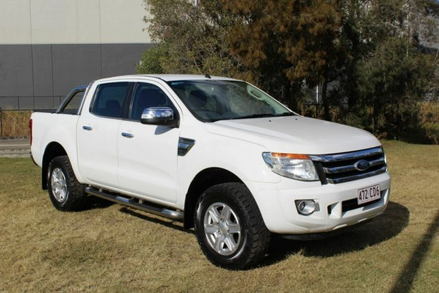 Used Ford Ranger PX XLT Double Cab Ormeau, 2013 Ford Ranger PX XLT Double Cab White 6 Speed Sports Automatic Utility