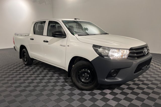Used Toyota Hilux TGN121R Workmate Double Cab 4x2 Acacia Ridge, 2015 Toyota Hilux TGN121R Workmate Double Cab 4x2 Glacier 6 speed Automatic Utility