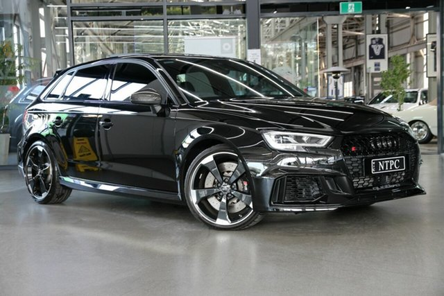 Used Audi RS 3 8V MY20 Carbon Edition Sportback S Tronic Quattro North Melbourne, 2020 Audi RS 3 8V MY20 Carbon Edition Sportback S Tronic Quattro Black 7 Speed