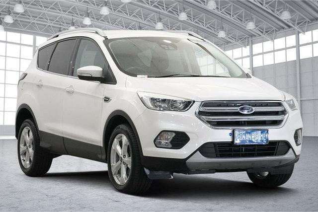 Used Ford Escape ZG 2019.25MY Trend Victoria Park, 2019 Ford Escape ZG 2019.25MY Trend White Platinum 6 Speed Sports Automatic SUV