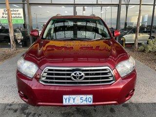 2009 Toyota Kluger GSU45R KX-S (4x4) Red 5 Speed Automatic Wagon.