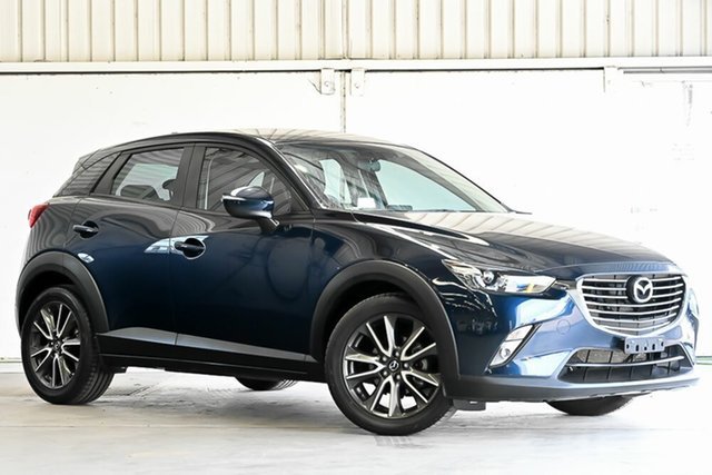 Used Mazda CX-3 DK2W7A sTouring SKYACTIV-Drive Laverton North, 2015 Mazda CX-3 DK2W7A sTouring SKYACTIV-Drive Blue 6 Speed Sports Automatic Wagon