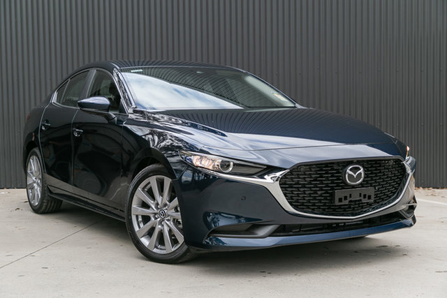 New Mazda 3 BP2SLA G25 SKYACTIV-Drive Astina Mornington, 2021 Mazda 3 BP2SLA G25 SKYACTIV-Drive Astina Deep Crystal Blue 6 Speed Sports Automatic Sedan