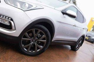 2017 Hyundai Santa Fe DM5 MY18 Active X Silver 6 Speed Automatic Wagon.