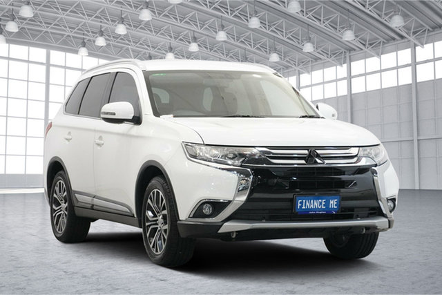 Used Mitsubishi Outlander ZK MY17 LS 2WD Victoria Park, 2017 Mitsubishi Outlander ZK MY17 LS 2WD White 6 Speed Constant Variable Wagon
