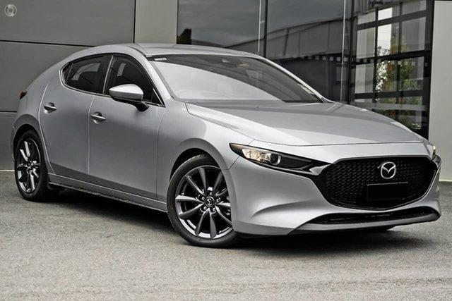 New Mazda 3 BP2H7A G20 SKYACTIV-Drive Evolve Waitara, 2021 Mazda 3 BP2H7A G20 SKYACTIV-Drive Evolve Silver 6 Speed Sports Automatic Hatchback