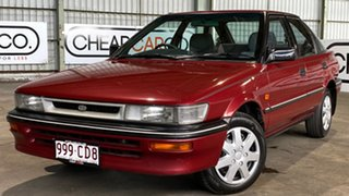 1992 Toyota Corolla AE94 CSi Seca Red 4 Speed Automatic Liftback.
