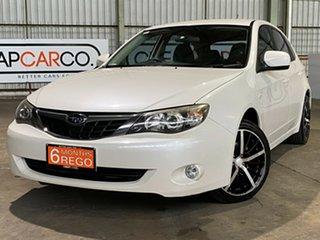 2007 Subaru Impreza G3 MY08 RX AWD White 4 Speed Sports Automatic Hatchback.