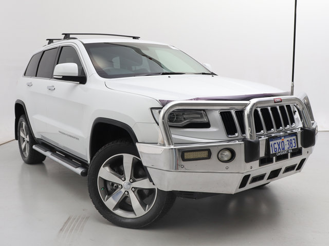 Used Jeep Grand Cherokee WK MY14 Limited (4x4), 2014 Jeep Grand Cherokee WK MY14 Limited (4x4) White 8 Speed Automatic Wagon