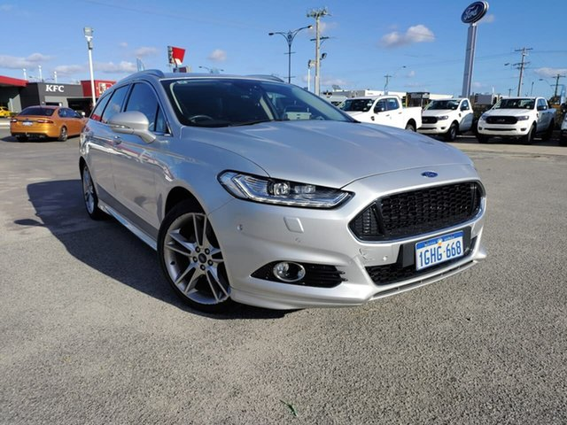 Used Ford Mondeo MD 2017.50MY Titanium Morley, 2017 Ford Mondeo MD 2017.50MY Titanium Moondust Silver 6 Speed Sports Automatic Dual Clutch Wagon