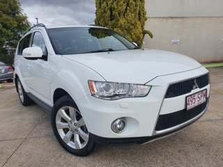 2011 Mitsubishi Outlander ZH MY12 XLS White 6 Speed Constant Variable Wagon.