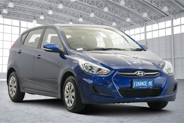 Used Hyundai Accent RB3 MY16 Active Victoria Park, 2016 Hyundai Accent RB3 MY16 Active Blue 6 Speed Constant Variable Hatchback