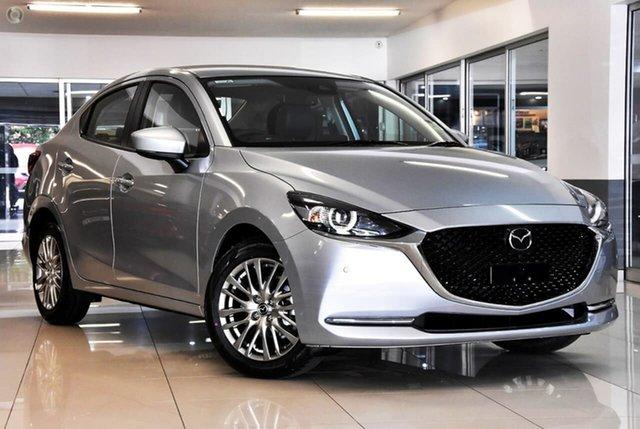 New Mazda 2 DL2SAA G15 SKYACTIV-Drive GT Waitara, 2021 Mazda 2 DL2SAA G15 SKYACTIV-Drive GT Silver 6 Speed Sports Automatic Sedan