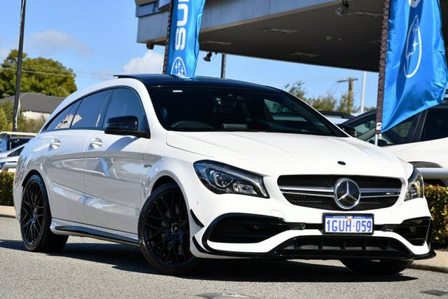 Used Mercedes-Benz CLA-Class X117 809MY CLA45 AMG Shooting Brake SPEEDSHIFT DCT 4MATIC Melville, 2019 Mercedes-Benz CLA-Class X117 809MY CLA45 AMG Shooting Brake SPEEDSHIFT DCT 4MATIC White 7 Speed