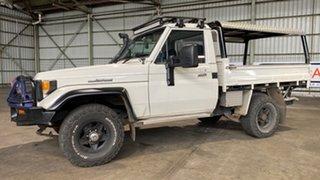 1985 Toyota Landcruiser HJ75 LWB White 5 Speed Manual Utility.