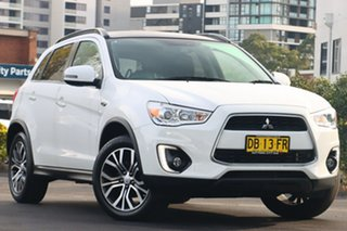 2014 Mitsubishi ASX XB MY14 Aspire White 6 Speed Sports Automatic Wagon.