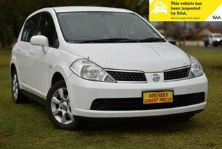 2008 Nissan Tiida C11 MY07 ST-L White 4 Speed Automatic Hatchback.