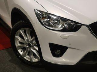 2013 Mazda CX-5 KE1021 Grand Touring SKYACTIV-Drive AWD White 6 Speed Sports Automatic Wagon.