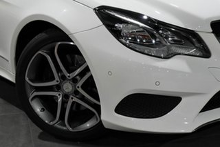 2014 Mercedes-Benz E-Class C207 MY14 E200 7G-Tronic + White 7 Speed Sports Automatic Coupe.