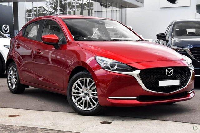 New Mazda 2 DJ2HAA G15 SKYACTIV-Drive Evolve Waitara, 2021 Mazda 2 DJ2HAA G15 SKYACTIV-Drive Evolve Red 6 Speed Sports Automatic Hatchback