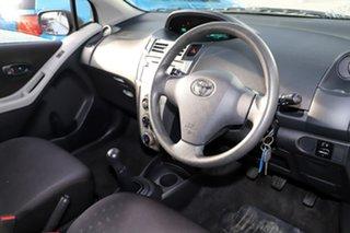 2008 Toyota Yaris NCP90R Rush Blue 5 Speed Manual Hatchback
