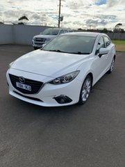 2014 Mazda 3 BM5238 SP25 SKYACTIV-Drive Snowflake White 6 Speed Sports Automatic Sedan.