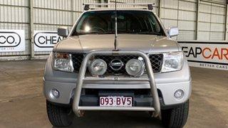 2009 Nissan Navara D40 ST White 5 Speed Automatic Utility