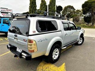 2008 Ford Ranger PJ XLT Crew Cab Silver 5 Speed Manual Utility