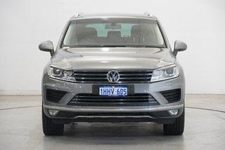 2015 Volkswagen Touareg 7P MY16 150TDI Tiptronic 4MOTION Element Grey 8 Speed Sports Automatic Wagon.