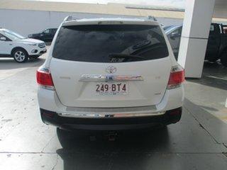 2012 Toyota Kluger GSU45R MY11 Upgrade Grande (4x4) White 5 Speed Automatic Wagon.