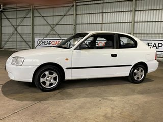 2002 Hyundai Accent LC GS White 5 Speed Manual Hatchback.