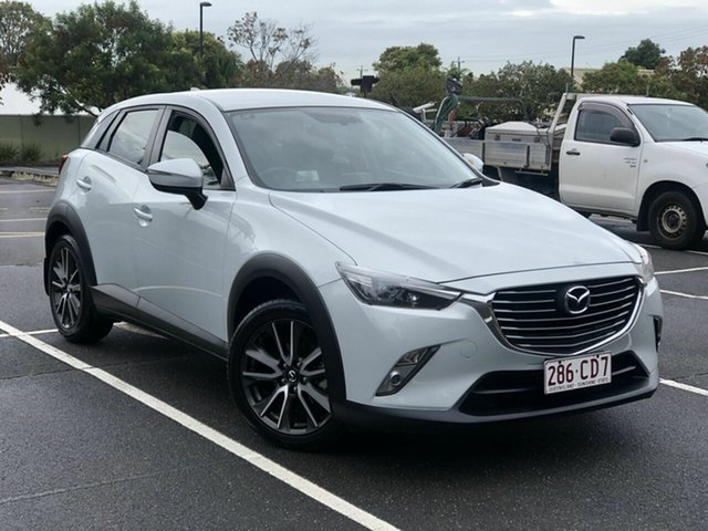 Used Mazda CX-3 DK2W7A sTouring SKYACTIV-Drive Chermside, 2016 Mazda CX-3 DK2W7A sTouring SKYACTIV-Drive White 6 Speed Sports Automatic Wagon