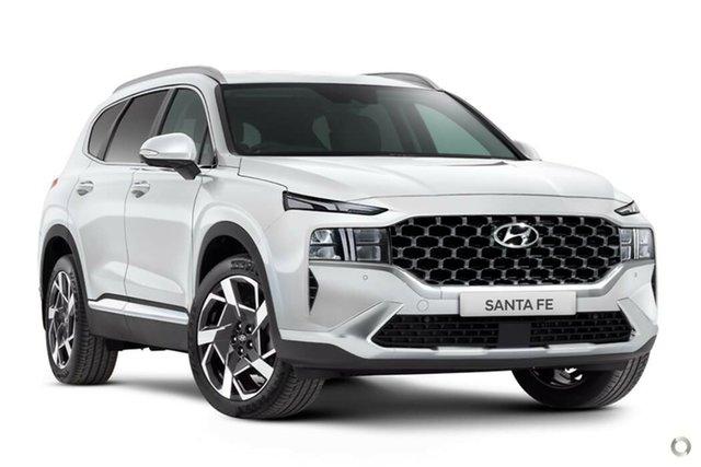New Hyundai Santa Fe Tm.v3 MY21 Elite DCT Nailsworth, 2021 Hyundai Santa Fe Tm.v3 MY21 Elite DCT Glacier White 8 Speed Sports Automatic Dual Clutch Wagon