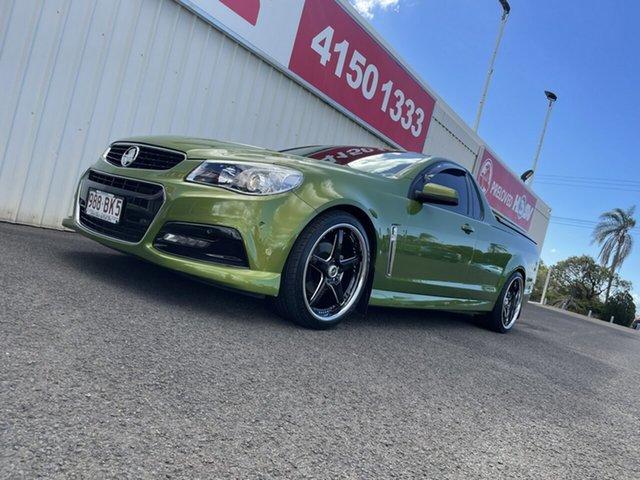 Used Holden Ute VF MY14 SV6 Ute Bundaberg, 2013 Holden Ute VF MY14 SV6 Ute Green 6 Speed Sports Automatic Utility