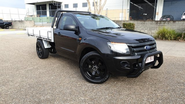 Used Ford Ranger PX MkII XL 2.2 (4x2) Underwood, 2015 Ford Ranger PX MkII XL 2.2 (4x2) Black 6 Speed Manual Cab Chassis