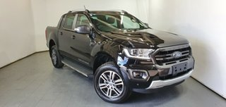 2020 Ford Ranger PX MkIII 2020.25MY Wildtrak Black 10 Speed Sports Automatic Double Cab Pick Up.