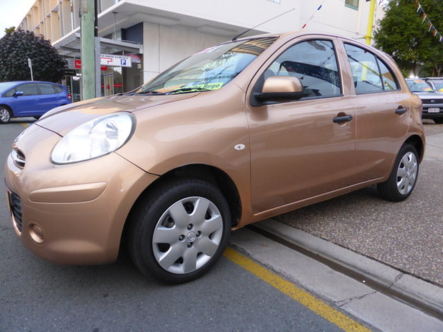 Used Nissan Micra K13 TI Southport, 2011 Nissan Micra K13 TI Gold 5 Speed Manual Hatchback
