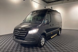 2019 Mercedes-Benz Sprinter VS30 414CDI Low Roof MWB 7G-Tronic + RWD Black 7 speed Automatic Van.