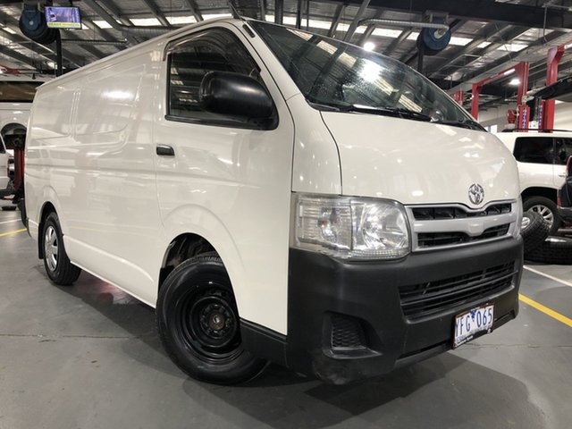 Pre-Owned Toyota HiAce TRH201R MY11 Upgrade LWB Oakleigh, 2011 Toyota HiAce TRH201R MY11 Upgrade LWB French Vanilla 4 Speed Automatic Van
