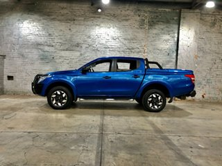 2015 Mitsubishi Triton MQ MY16 Exceed Double Cab Blue 5 Speed Sports Automatic Utility