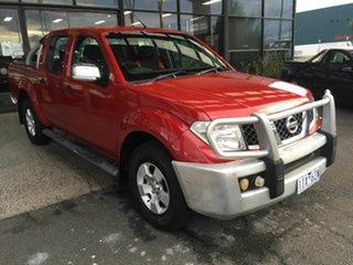2008 Nissan Navara D40 ST-X (4x4) Red 5 Speed Automatic Dual Cab Pick-up.