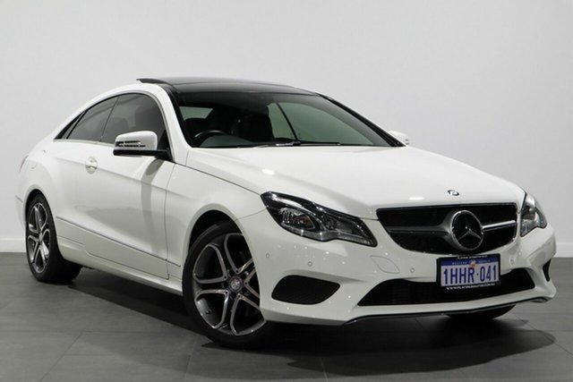 Used Mercedes-Benz E-Class C207 MY14 E200 7G-Tronic + Bayswater, 2014 Mercedes-Benz E-Class C207 MY14 E200 7G-Tronic + White 7 Speed Sports Automatic Coupe