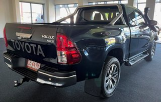 2016 Toyota Hilux GUN126R SR5 Extra Cab Black 6 Speed Manual Utility.