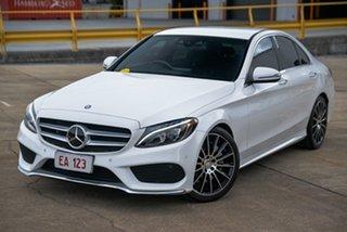 2015 Mercedes-Benz C-Class W205 C250 7G-Tronic + White 7 Speed Sports Automatic Sedan.
