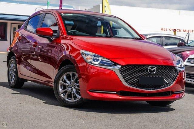 New Mazda 2 DJ2HAA G15 SKYACTIV-Drive Pure Waitara, 2021 Mazda 2 DJ2HAA G15 SKYACTIV-Drive Pure Red 6 Speed Sports Automatic Hatchback